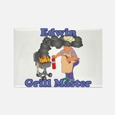 Grill Master Edwin Rectangle Magnet