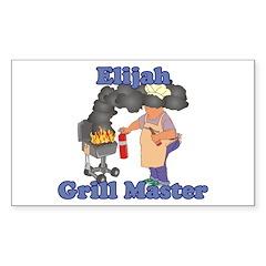 Grill Master Elijah Decal