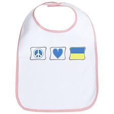Peace, Love and Ukraine Bib