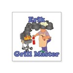 Grill Master Erik Square Sticker 3