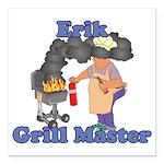 Grill Master Erik Square Car Magnet 3