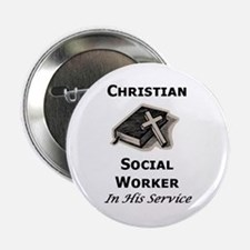 Christian Social Worker Button