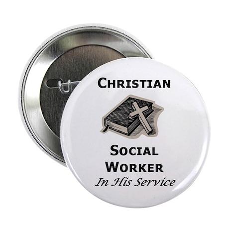 "Christian Social Worker 2.25"" Button (100 pack)"