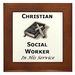 Christian Social Worker Framed Tile