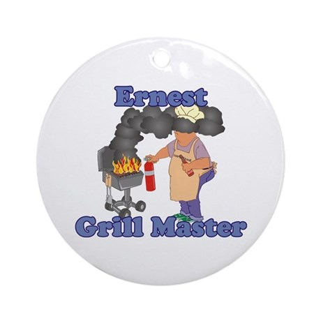 Grill Master Ernest Ornament (Round)