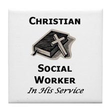Christian Social Worker Tile Coaster