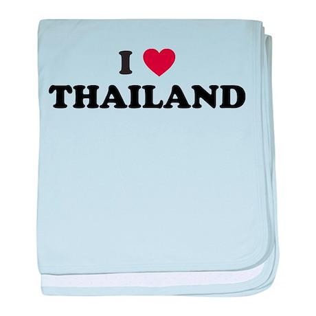 I Love Thailand baby blanket