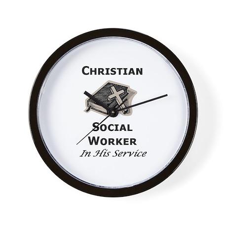 Christian Social Worker Wall Clock