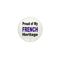 Proud French Heritage Mini Button