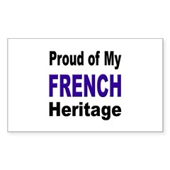 Proud French Heritage Rectangle Decal