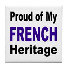 Proud French Heritage Tile Coaster
