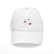 Peace, Love and Turkey Baseball Cap