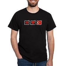Peace, Love and Turkey T-Shirt