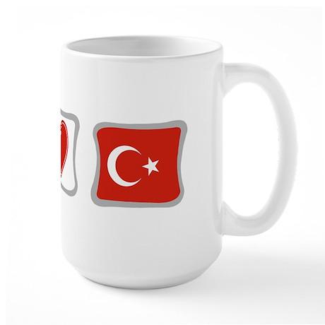 Peace, Love and Turkey Large Mug