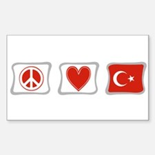Peace, Love and Turkey Decal