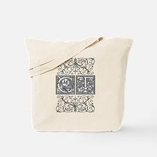 CT, initials, Tote Bag