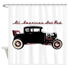 All American Hot Rod.png Shower Curtain