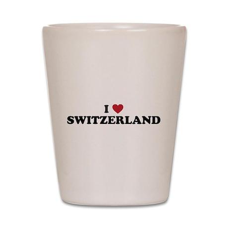I Love Switzerland Shot Glass