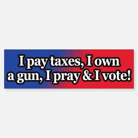 Taxes, guns, vote