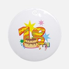 18th Celebration Ornament (Round)