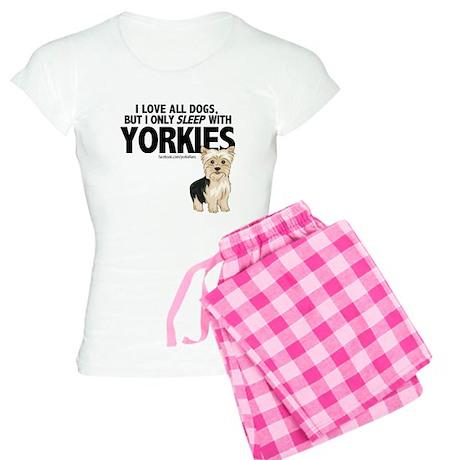 I Sleep with Yorkies Women's Light Pajamas