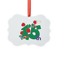 15th Celebration Ornament