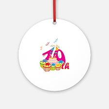 10th Celebration Ornament (Round)