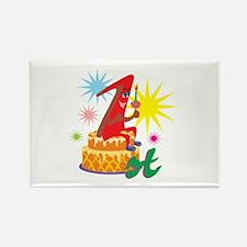 1st Celebration Rectangle Magnet
