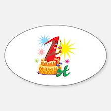 1st Celebration Decal