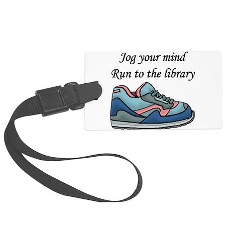 """""""Jog Your Mind"""" Large Luggage Tag"""