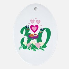 30th Celebration Ornament (Oval)