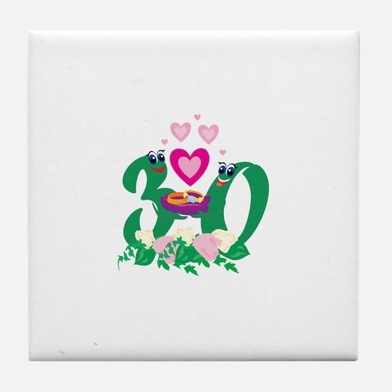 30th Celebration Tile Coaster