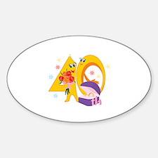 40th Celebration Sticker (Oval)