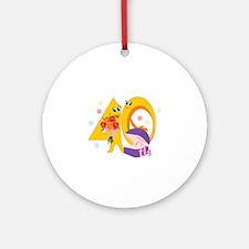 40th Celebration Ornament (Round)