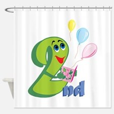 2nd Celebration Shower Curtain