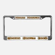 What Would John Galt Do 3 License Plate Frame