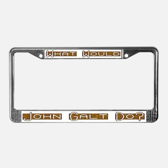 What Would John Galt Do 3 License Plate Frame