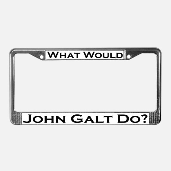 What Would John Galt Do License Plate Frame