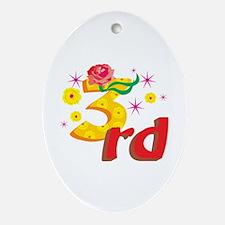 3rd Celebration Ornament (Oval)