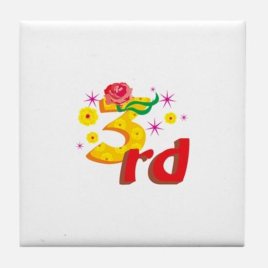 3rd Celebration Tile Coaster