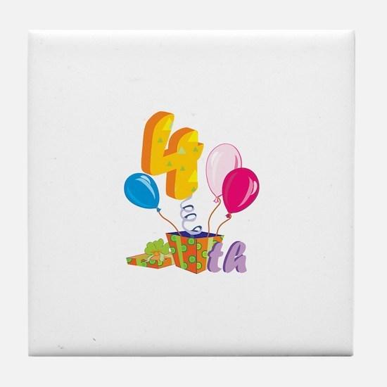 4th Celebration Tile Coaster
