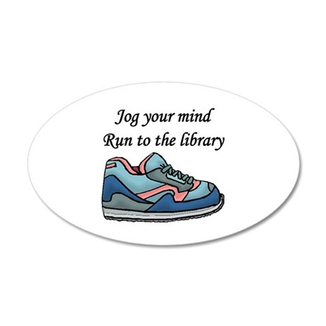 """""""Jog Your Mind"""" 35x21 Oval Wall Decal"""
