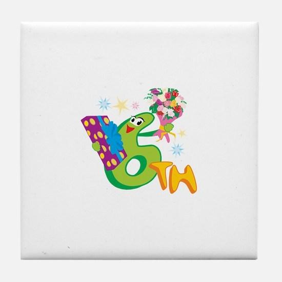 6th Celebration Tile Coaster