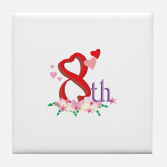 8th Celebration Tile Coaster