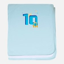 10th Celebration baby blanket