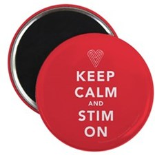 Keep Calm and Stim On (red) Magnet