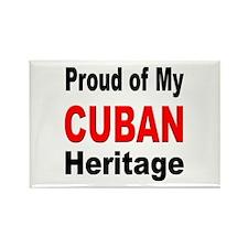 Proud Cuban Heritage Rectangle Magnet