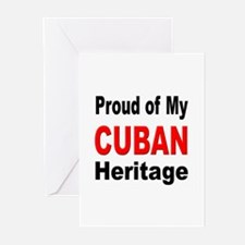 Proud Cuban Heritage Greeting Cards (Pk of 10)