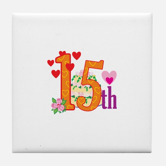 15h Celebration Tile Coaster