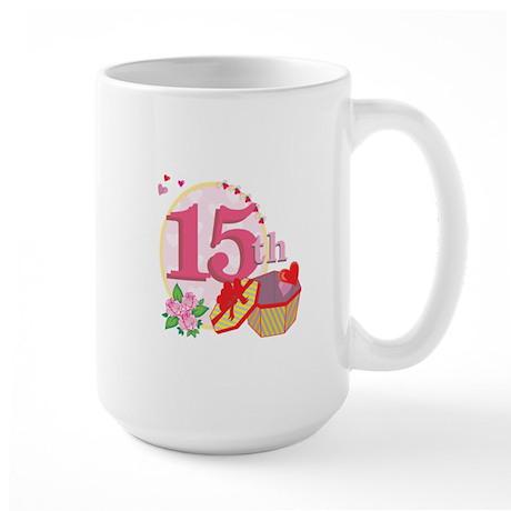 15h Celebration Large Mug